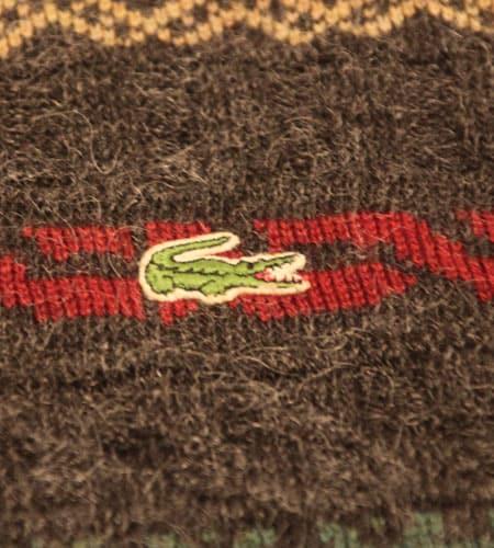 70's フランス製 ラコステ フェアアイル柄セーター