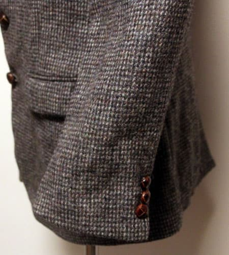 80's US製 グレー ハリスツイード 2B  ツイードジャケット