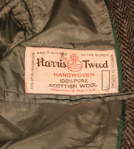 [古着/USED] 80's US製 デッドストック ハリスツイード 2B ツイードジャケット