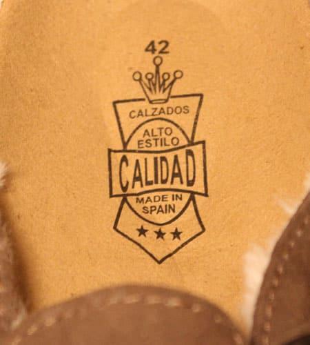 [新品]  スペイン製 CALIDAD スウェードクロッグ