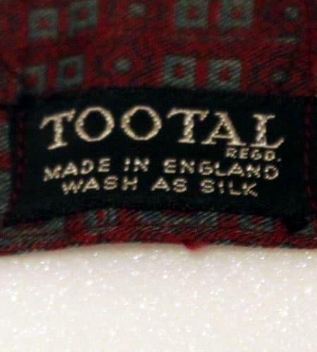 70's イングランド製 TOOTAL クラバット