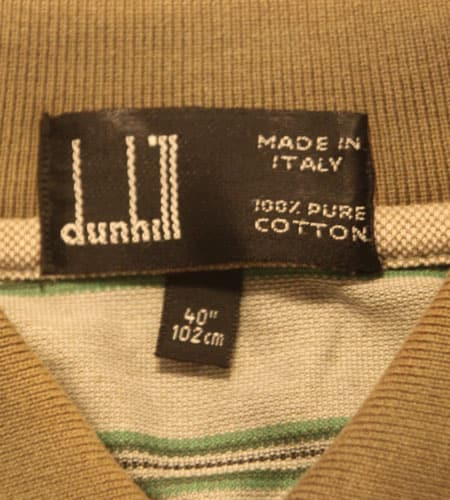 [古着/USED] 80's イタリア製 デッドストック ダンヒル ポロシャツ