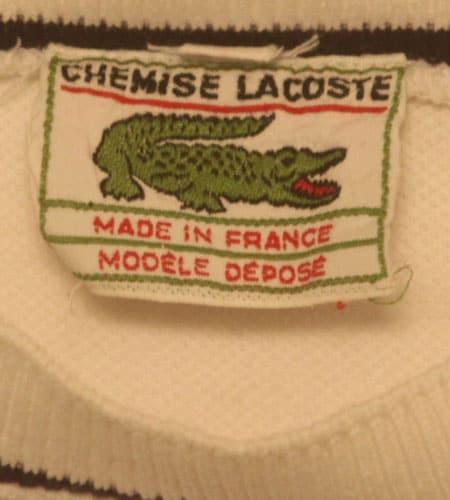 [古着/USED] 60's フランス製 ラコステ 鹿の子地 Tシャツ