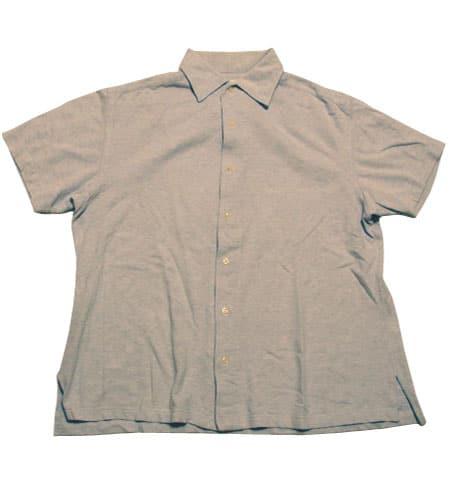 [古着/USED]  イタリア製 ギローバー 鹿の子地 ショートスリーブシャツ