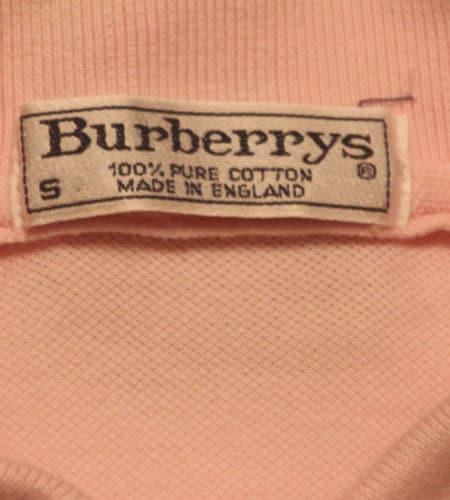80's イングランド製 バーバリー ポロシャツ