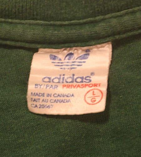 [古着/USED] 80's カナダ製 アディダス Tシャツ