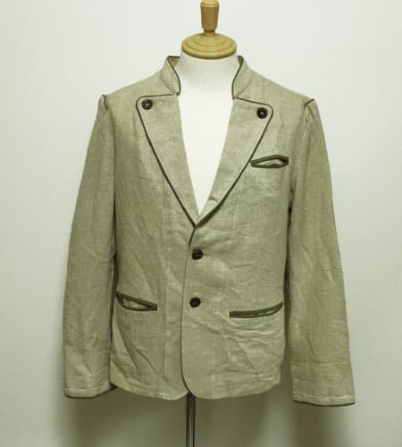 [古着/USED] 80's オーストリア製 リネン チロリアンテーラードジャケット