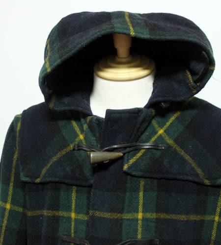 [古着/USED] 70's イングランド製 グローバーオール タータンニール ダッフルコート