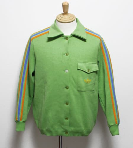 [古着/USED] 60's 西ドイツ製 グリーン アディダスジャージ