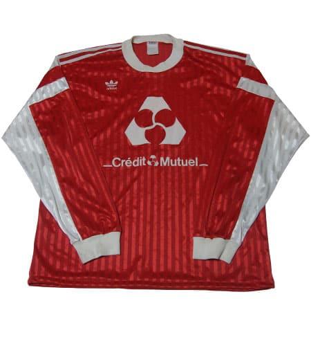 [古着/USED] 80's フランス製 アディダス サッカーシャツ(ls-125)