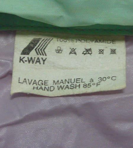 [古着/USED] 80's フランス製 K-WAY ナイロンジャケット