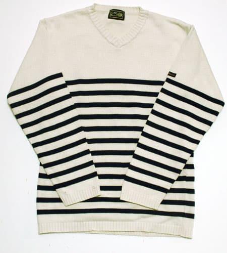 [古着/USED] 70's フランス製 Vネック マリーンセーター