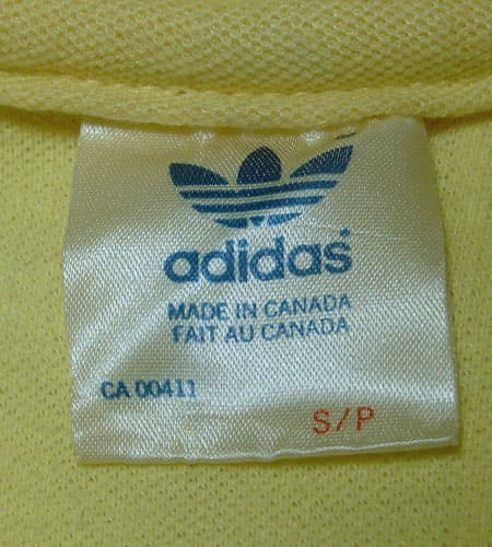 [古着/USED] 70's カナダ製 アディダス ポロシャツ